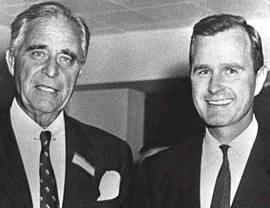 Prescott Bush con il figlio
