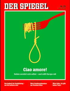 Una copertina dello Spiegel contro l'Italia