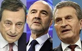 Draghi, Moscovici e Oettinger