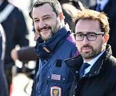 Salvini a Ciampino col ministro Bonafede