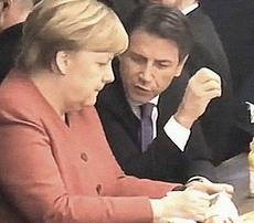 Conte al bar con la Merkel