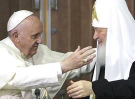 L'incontro fra Bergoglio e Kirill