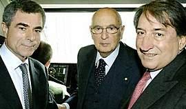 Moretti con Napolitano e Innocenzo Cipolletta di Confindustria