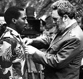 Sankara con Fidel Castro