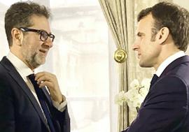 Fazio con Macron all'Eliseo