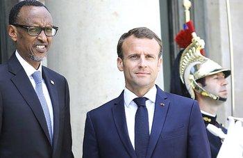 Kagame con Macron