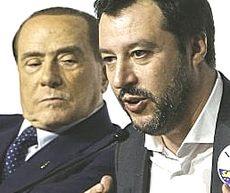 Salvini con Berlusconi