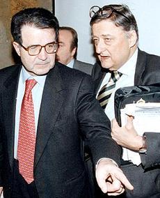Andreatta con Prodi