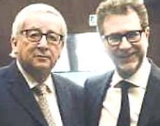 Juncker con Fazio