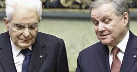 Mattarella con Ignazio Visco di Bankitalia