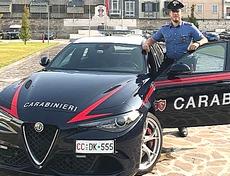Una Giulia dei carabinieri
