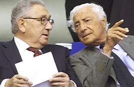 Agnelli con Kissinger