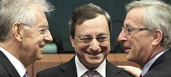 Draghi tra Monti e Juncker