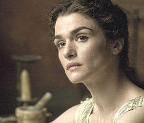 Ipazia di Alessandria interpretata da Rachel Weisz nel film di Amenabar