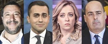 Salvini, Di Maio, Meloni e Zingaretti