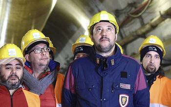 Salvini al cantiere Tav del mini-tunnel geognostico di Chiomonte