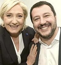 Salvini con Marine Le Pen