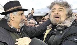 Grillo con Alberto Perino, storico leader NoTav