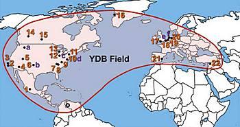 Le aree sconvolte dal cataclisma 12.000 anni fa