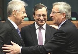 Monti, Draghi e Juncker