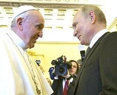 Putin con Papa Francesco