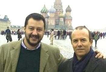 Salvini e Savoini a Mosca