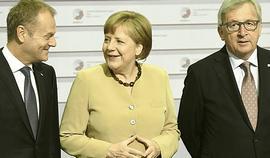 Tusk, Merkel e Juncker