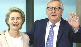 Ursula von der Leyen con Juncker