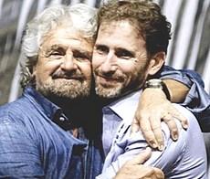 Grillo e Davide Casaleggio