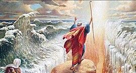 La separazione del Mar Rosso, che nella Bibbia non esiste