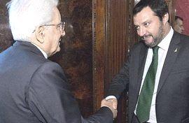 Mattarella e Salvini
