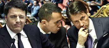 Renzi, Di Maio e Conte