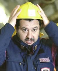 Salvini nel cantiere Tav di Chiomonte