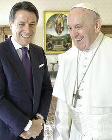 Conte e Bergoglio