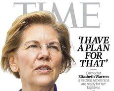 Elizabeth Warren sulla copertina di Time