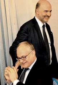 Gualtieri con Moscovici