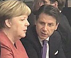 La Merkel al bar con Conte