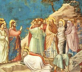 La resurrezione di Lazzaro vista da Giotto