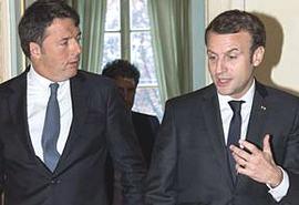 Renzi e Macron