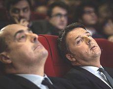 Zingaretti e Renzi