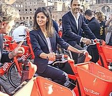 A Roma il bike sharing elettrico di Uber