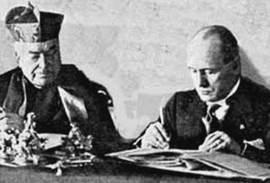 Mussolini e la firma dei Patti Lateranensi