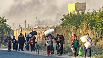 Siria, curdi in fuga