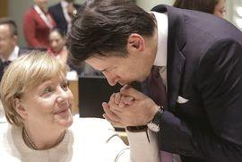 Conte con la Merkel