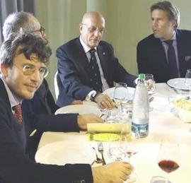 Fusaro a tavola con Albertini ed Emanuele Filiberto