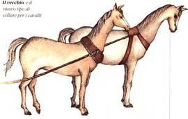 Il vecchio collare per cavalli e quello più recente