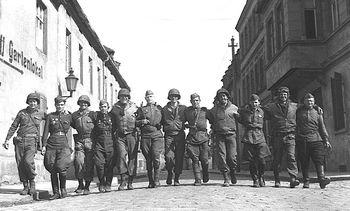 Soldati americani e russi a Torgau nel 1945