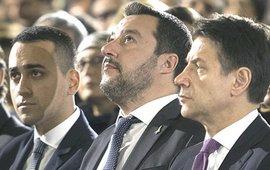 Di Maio, Salvini e Conte