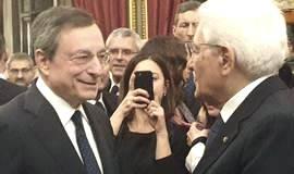 Draghi con Mattarella, omaggiato al Qurinale