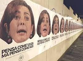Manifesti contro Laura Boldrini